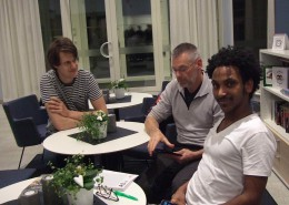 2017-02-27 Anton Olausson, Bosse Leander och Awe Goitomt.