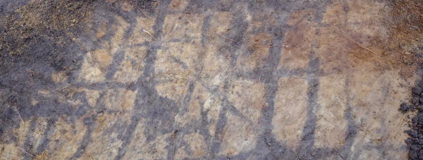 Årderspår på yta 4.